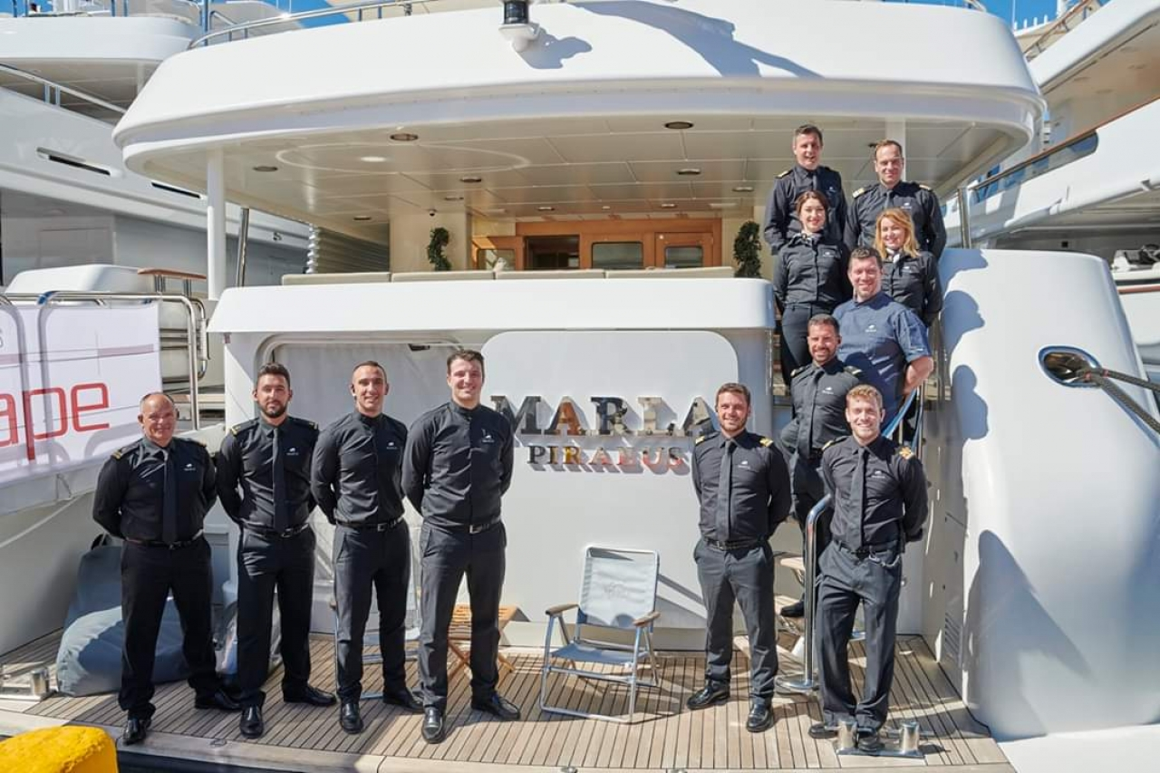 M/Y Marla at the Mediterranean Yacht Show 2019